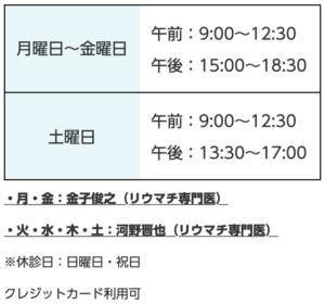 東京スカイツリー駅前内科,診療時間,リウマチ専門