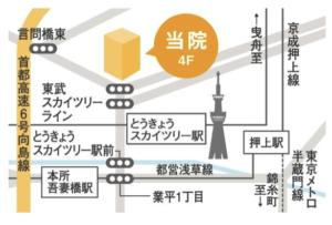東京スカイツリー駅前内科アクセスマップ